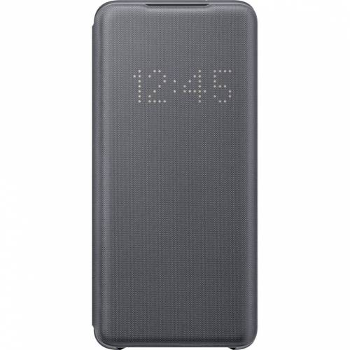 Samsung Galaxy S20 Led View View Bücheretui Grau Handyhülle
