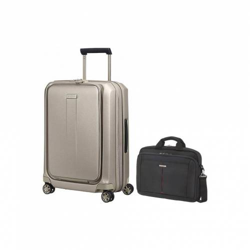 Samsonite Prodigy Spinner 55cm Ivory Gold + Samsonite GuardIT Koffer