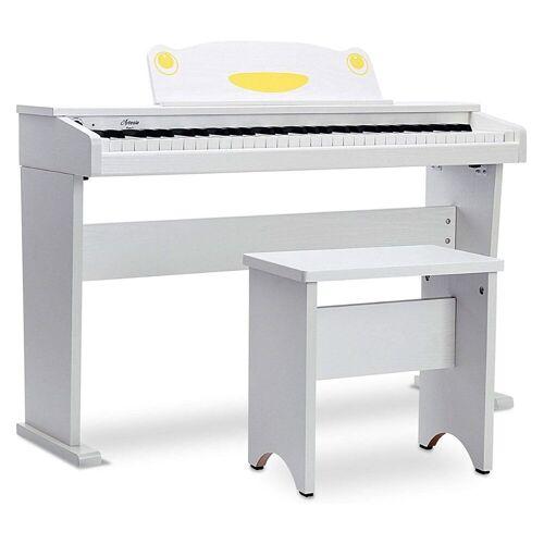Artesia Fun-1 Kinder Piano mit Bank Weiß