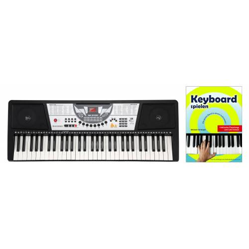 McGrey BK-6100 Keyboard mit 61 Tasten, Keyboardschule und Notenhalter