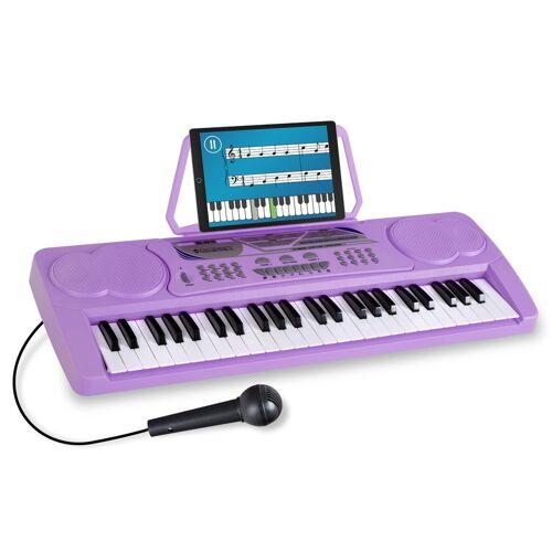 McGrey BK-4910VT Keyboard mit 49 Tasten und Notenhalter Lila