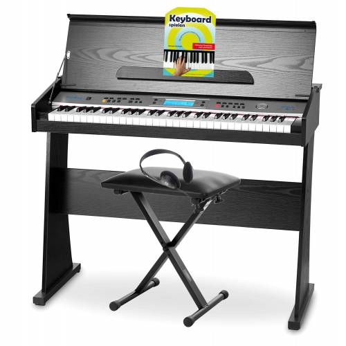 FunKey DP-61 II Keyboard mit 61 Tasten im Digitalpiano-Design Set