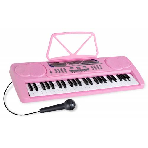 McGrey BK-4910PK Keyboard mit 49 Tasten und Notenhalter Pink
