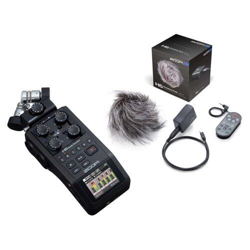 Zoom H6 Black APH-6 portables Recorder Set