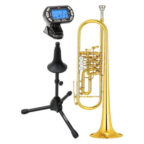 Yamaha YTR-436 G Konzerttrompete lackiert Set inkl. Ständer und Stimmgerät