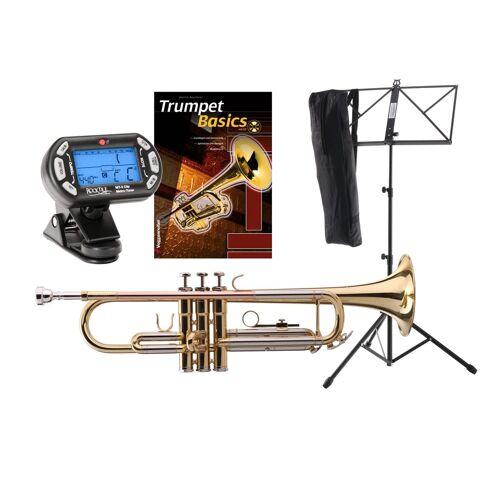 Classic Cantabile TR-40L Bb-Trompete SET mit Stimmgerät/Metronom, Notenständer und Trompetenschule