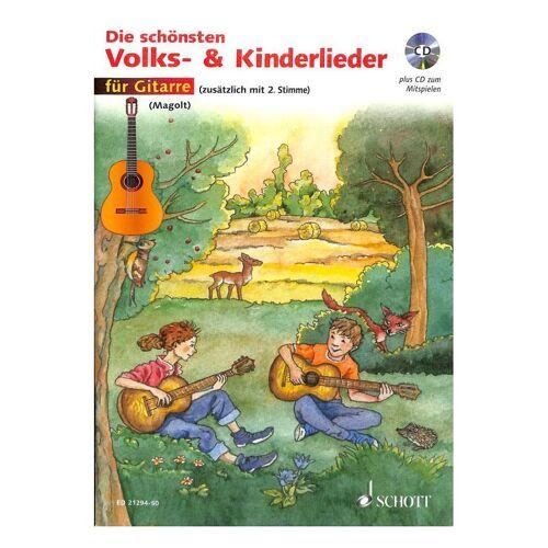 Die schönsten Volks- & Kinderlieder für Gitarre + CD