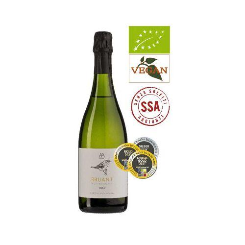 Bio-Weinkiste Celler de les Aus Cava BRUANT Brut Nature D.O. Cava 2018 Schaumwein Bio