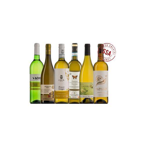 Bio-Weinkiste Weißwein ungeschwefelt Biowein Probierkiste / 6 Flaschen