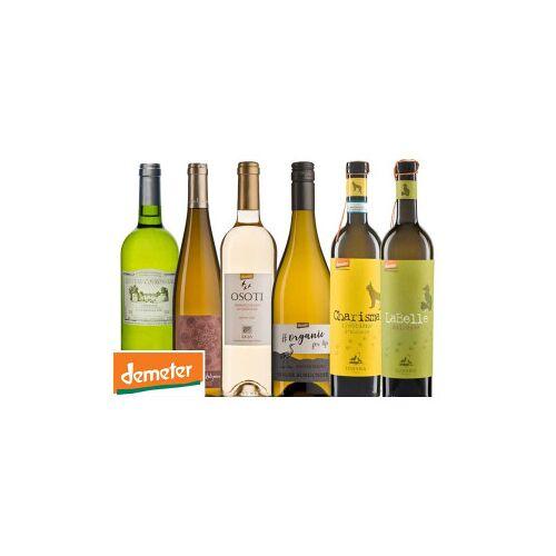 Bio-Weinkiste Demeter Probierkiste Weißwein / 6 Flaschen