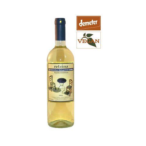 Bio-Weinkiste Retsina Papakonstantinou 2019 Biowein, Weißwein