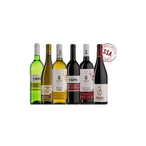 Bio-Weinkiste ungeschwefelte Bioweine Probierkiste / 6 Flaschen