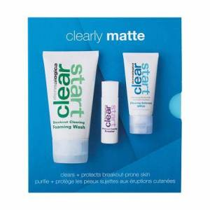 Dermalogica Clearly Matte Skin Kit Set Reinigungsschaum Clear StartBreakout Clearing Foaming Wash 75 ml + Gesichtsserum Clear Start Breakout Clearing Booster 10 ml + Tagespflege Clear Start für Frauen