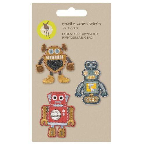 LÄSSIG Textilsticker Woven Robots