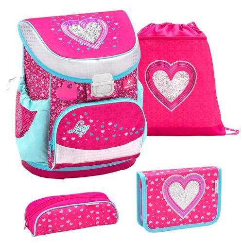 Belmil Mini Fit Schulranzen Set Heart