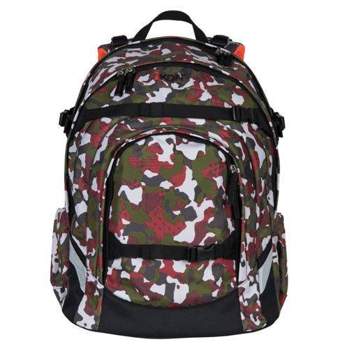 iKON iKON Schulrucksack Red Camouflage