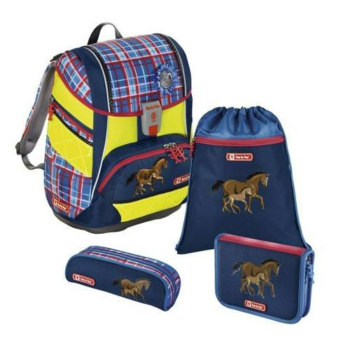 Step by Step 2in1 Schulranzen Set DIN Horse Family Blau