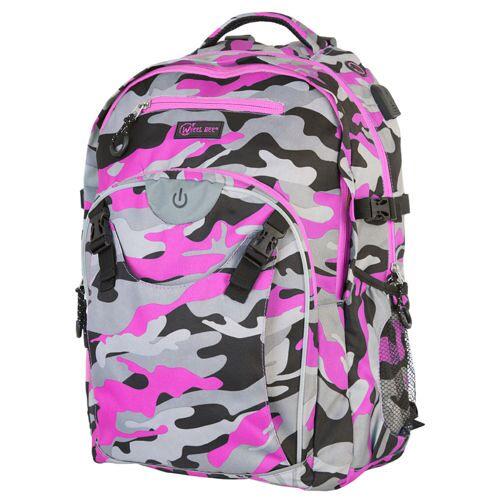WHEEL BEE Schulrucksack Generation Z Camouflage Pink