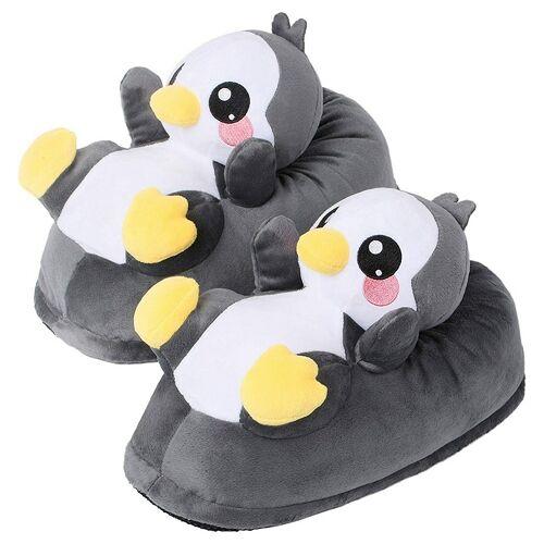 Corimori Plüsch Hausschuhe Größe 25 bis 33 Pablo der Pinguin
