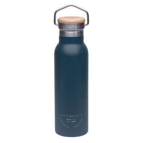 LÄSSIG Trinkflasche Edelstahl 460ml Adventure Blue