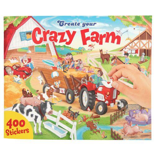 Lizenz Stickerheft quer Crazy Farm