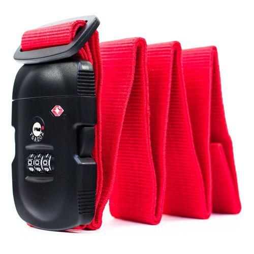 fabrizio Koffergurt TSA Rot