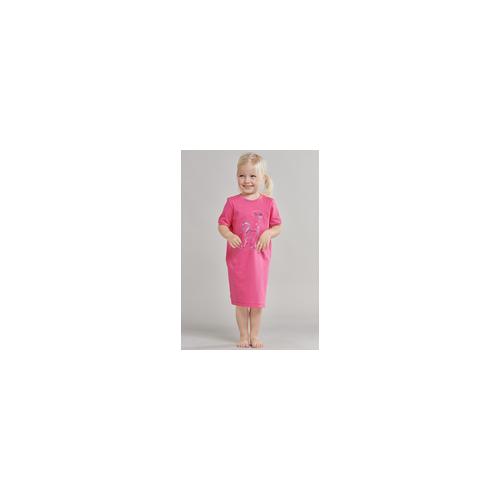 Schiesser Nachthemd kurzarm Einhorn pink - Girls World für Mädchen 92