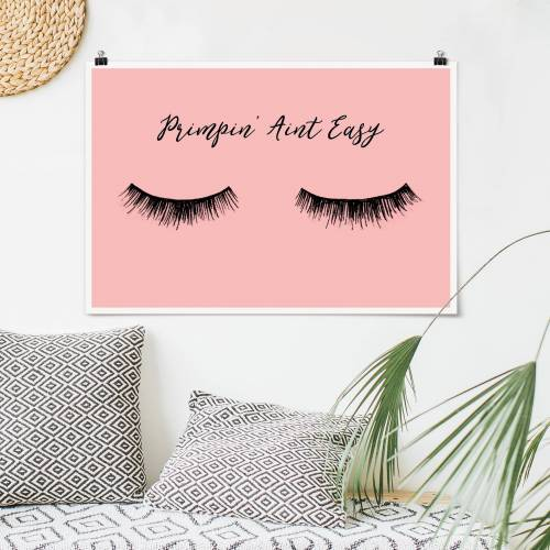 Poster Wimpern Chat - Primpin'