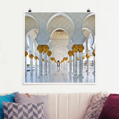 Poster Moschee in Abu Dhabi