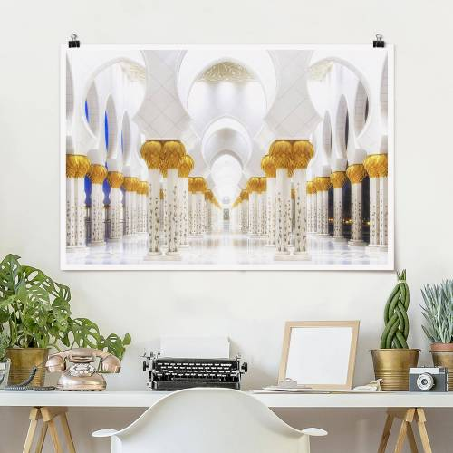 Poster Moschee in Gold