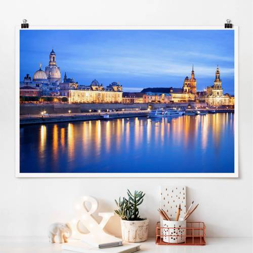 Poster Canaletto-Blick bei Nacht