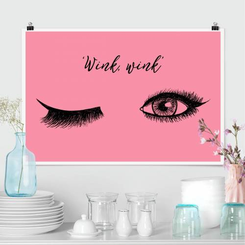 Poster Wimpern Chat - Wink