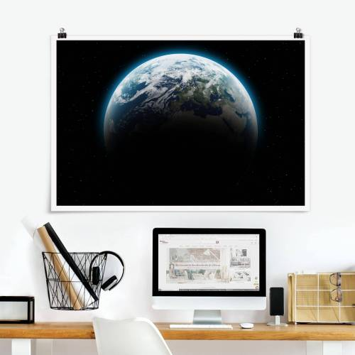 Poster Illuminated Planet Earth