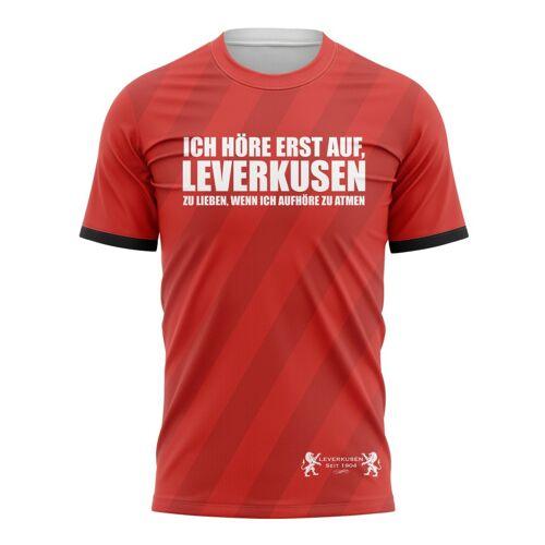 Tribune FC T-shirt Ich höre erst auf, Leverkusen zu lieben, wenn ich aufhöre zu atmen - Fans Leverkusen