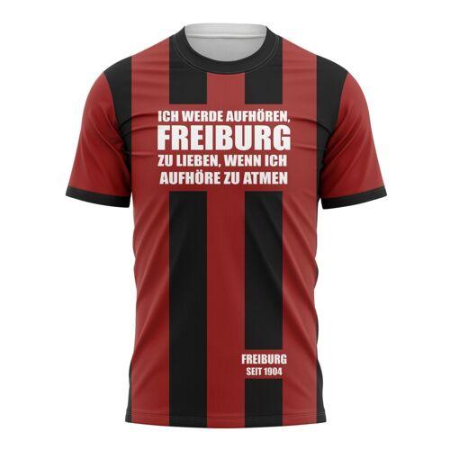 Tribune FC T-shirt Ich werde aufhören, Freiburg zu lieben, wenn ich aufhöre zu atmen - Fans Freiburg