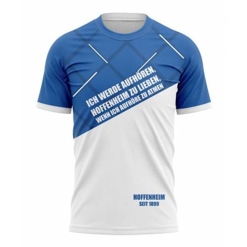 Tribune FC T-shirt Ich werde aufhören, Hoffenheim zu lieben, wenn ich aufhöre zu atmen - Fans Hoffenheim
