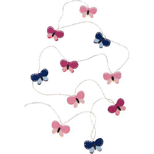 bonprix LED-Lichterkette Schmetterlinge pink