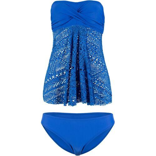 bonprix Long Bandeau Tankini (2-tlg. Set) blau