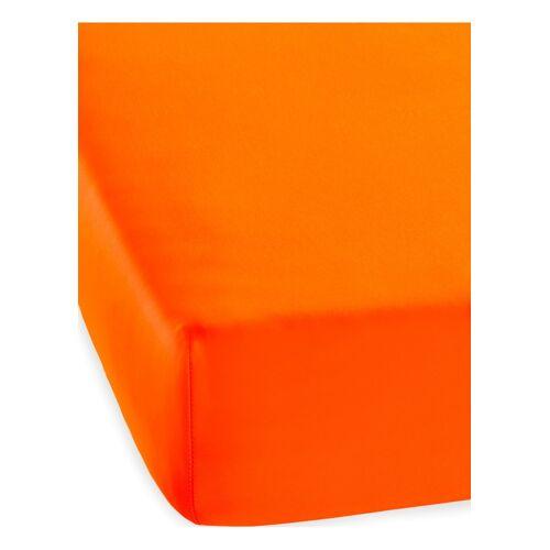bonprix Microfaser Spannbettlaken Neon orange
