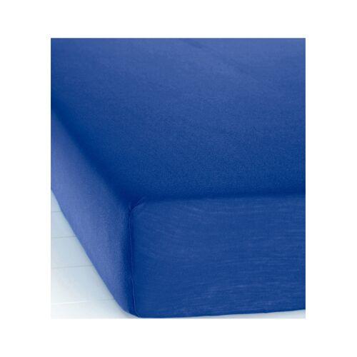 bonprix Jersey Microfaser Spannbettlaken blau