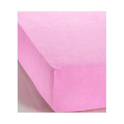 bonprix Frottee Spannbettlaken rosa