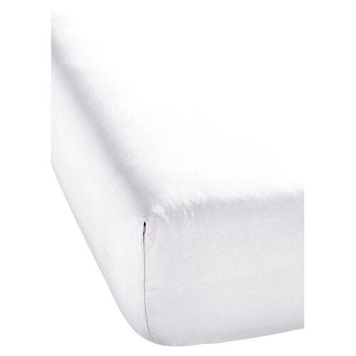bonprix Microfaser Spannbettlaken weiß