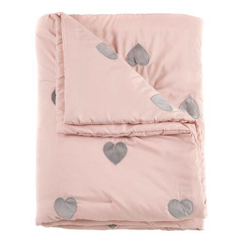 bonprix Tagesdecke mit Herzen rosa