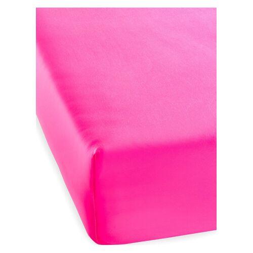 bonprix Microfaser Spannbettlaken Neon pink