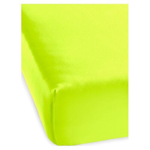 bonprix Microfaser Spannbettlaken Neon gelb