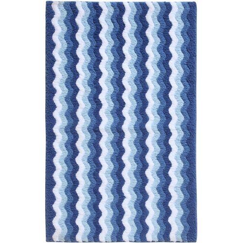 bonprix Badematte in Wellenstruktur blau