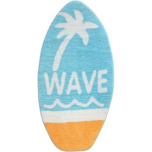 bonprix Badematte in Surfbrettform blau
