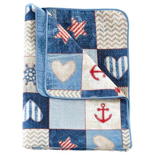 bonprix Tagesdecke mit maritimen Design blau