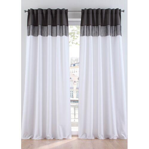 bonprix Vorhang mit Fransen (1er Pack) weiß