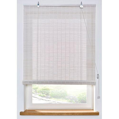 bonprix Bambus Sichtschutzrollo zum Bohren weiß